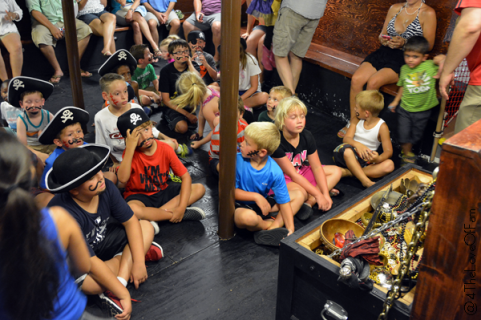 We did this pirate cruise in DestiL, and my kids had a blast! These site lists good thing to know and answered my questions.