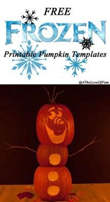 Free #Disney 's #FROZEN Pumpkin Carving #Halloween Templates ~ #FREE Stencil Printables (Elsa, Anna, Olaf, Kristoff)