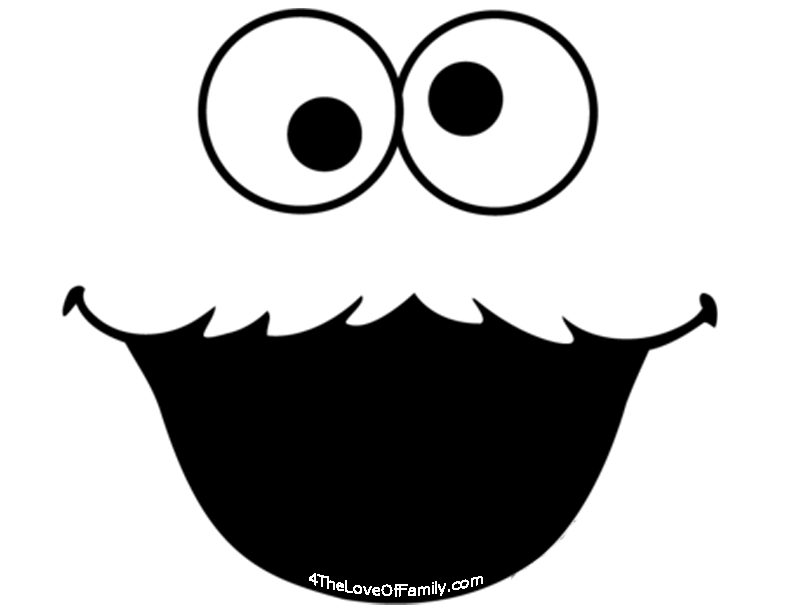 photograph about Printable Elmo Face identified as Totally free Sesame Road Font Facial area Printables - 4 The Delight in Of Loved ones