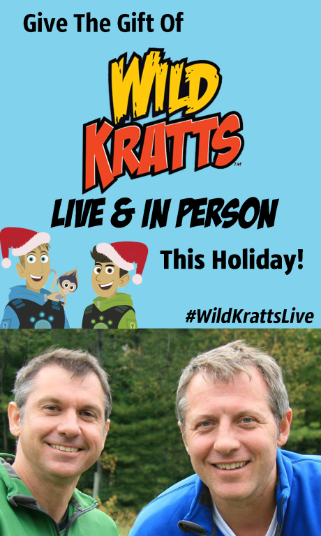 The ULTIMATE Wild Kratts Holiday Gift!! Wild Kratts Live Holiday Giveaway Family Focused Media 1