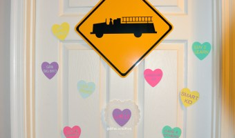 Countdown To Valentine's Day Candy Hearts Door