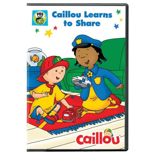 "Caillou DVD ""Caillou Learns To Share"""