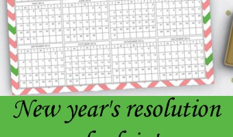 New year's resolution check in! Free printables to keep you on track.