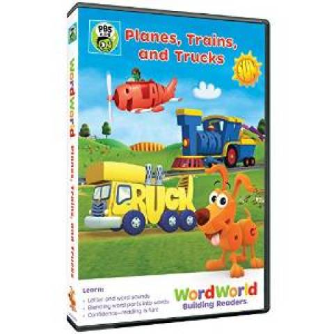"WORDWORLD DVD ""Planes, Trains & Trucks"""