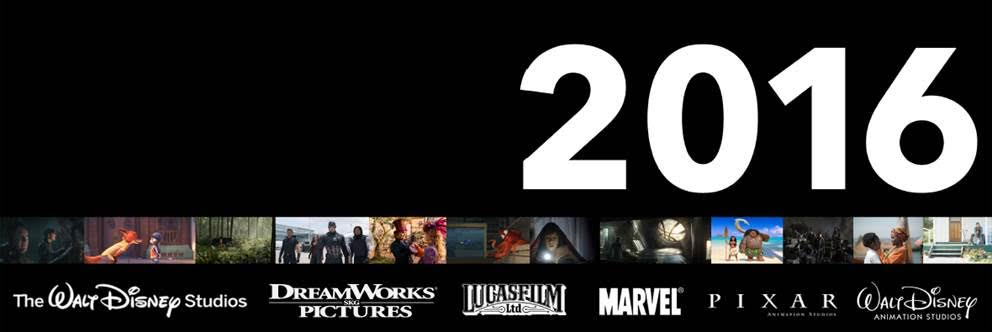 2016 release schedule from Walt Disney Studios Motion Pictures
