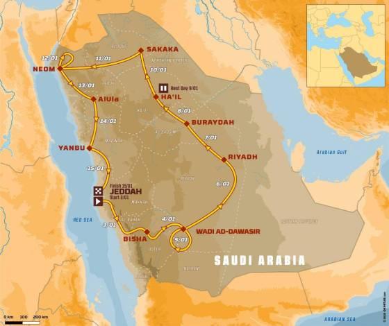 Χάρτης Ντακάρ 2021