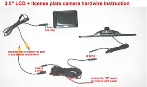 Wireless car backup camera 36 inch LCD Color Monitor and