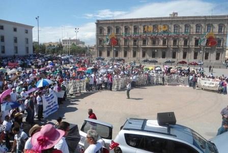 manifestaciones de maestros en chihuahua