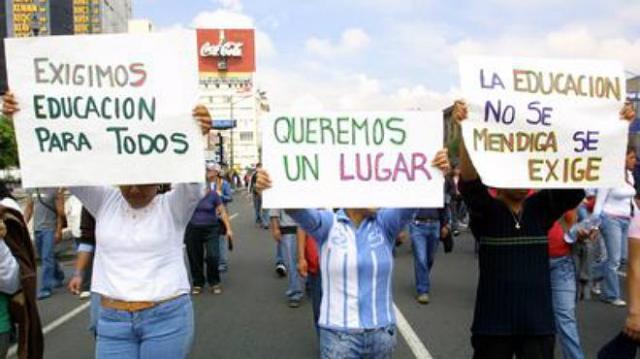 ESTUDIANTES RECHAZADOS MEXICO