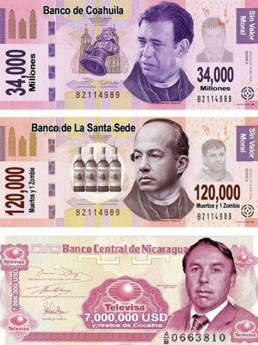 BILLETES POLITICOS MEXICO