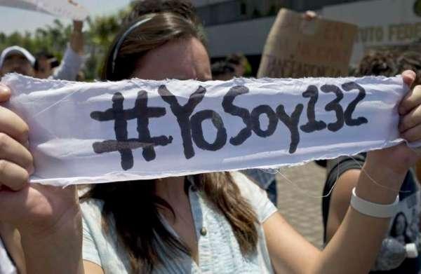 YOSOY132 PROTESTA EN CALLE MUJER