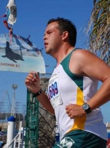 El corredor Daniel del Río (Foto: UABC).