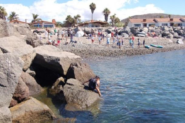 Playitas, una de las zonas con frente de mar de la bahía que se puede mejorar.