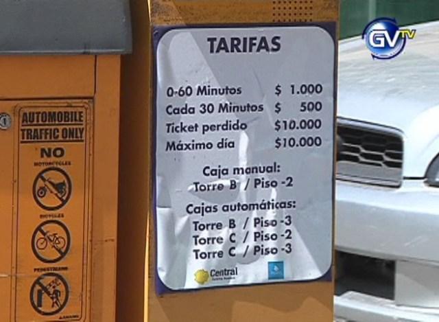 ESTACIONAMIENTO TARIFAS