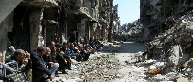 Escombros, tras los bombardeos de los aliados anti Estado Islámico (Foto: UNRWA).