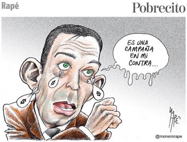 Monero del ex gobernador de Coahuila, Humberto Moreira (Fuente: Rapé).