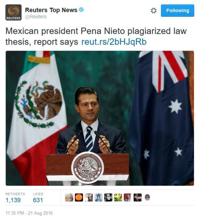 Con Pe{ña Nieto y en Mé3xico, sólo se trata de otro escándalo a nivel internacional; ¿nada más? (Foto: Agencia Reuters)
