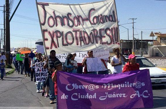 Durante meses los trabajadores de la maquiladora Johnson han sostenido una intensa lucha incluida la hulega, eb deanda de mejores salarios. Las condiciones de trabajo en esa y otras empresas de la industria maquiladora son infrahumanas.