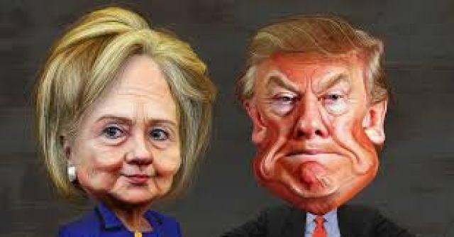 hilary-y-trump-caricaturizados