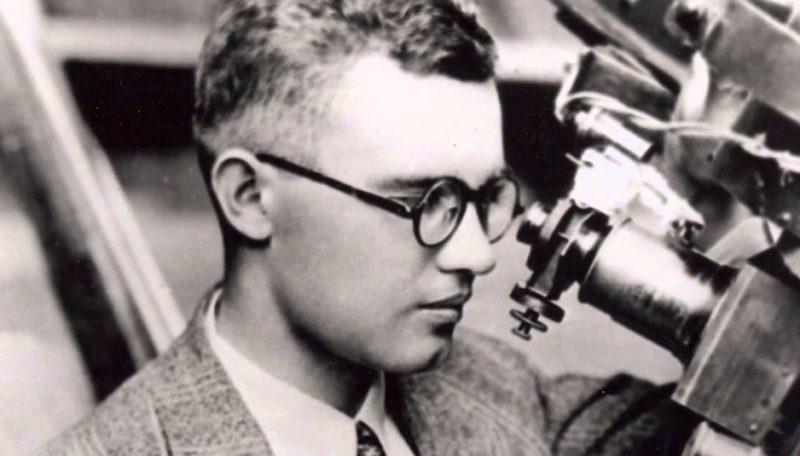 Clyde Tombaugh, jóven descubridor de Plutón (Internet).