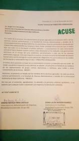 Primera carta enviada al Dr. Sergio Cruz Hernández
