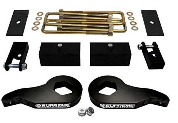 """2000-2007 Silverado Sierra Steel 1-3/"""" Front Leveling Kit 4WD w// Shock Extenders"""