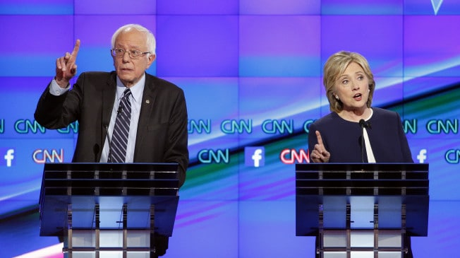 Bernie Sanders is having an effect on Hillary Clinton's campaign