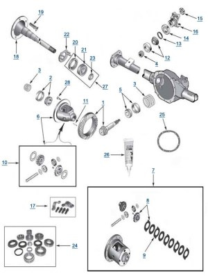 Jeep WJ Grand Cherokee Model Model 35 Rear Axle  Differential Swap Options & Rear Axle Assembly