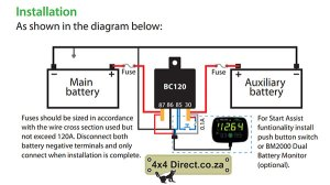 HBC Dual Battery Monitor  4x4 Direct