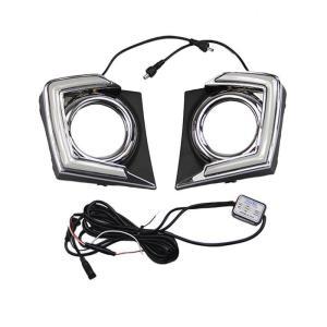 DRL LED DAYTIME RUNNING LIGHT FOG LAMP FOR MITSUBISHI L200 TRITON 2015 2016