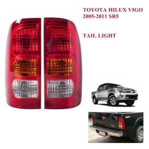 2005 - 2010 Tail light lamp No Bulb LH RH 2 Pc Fit Toyota Hilux Pickup SR5 Vigo