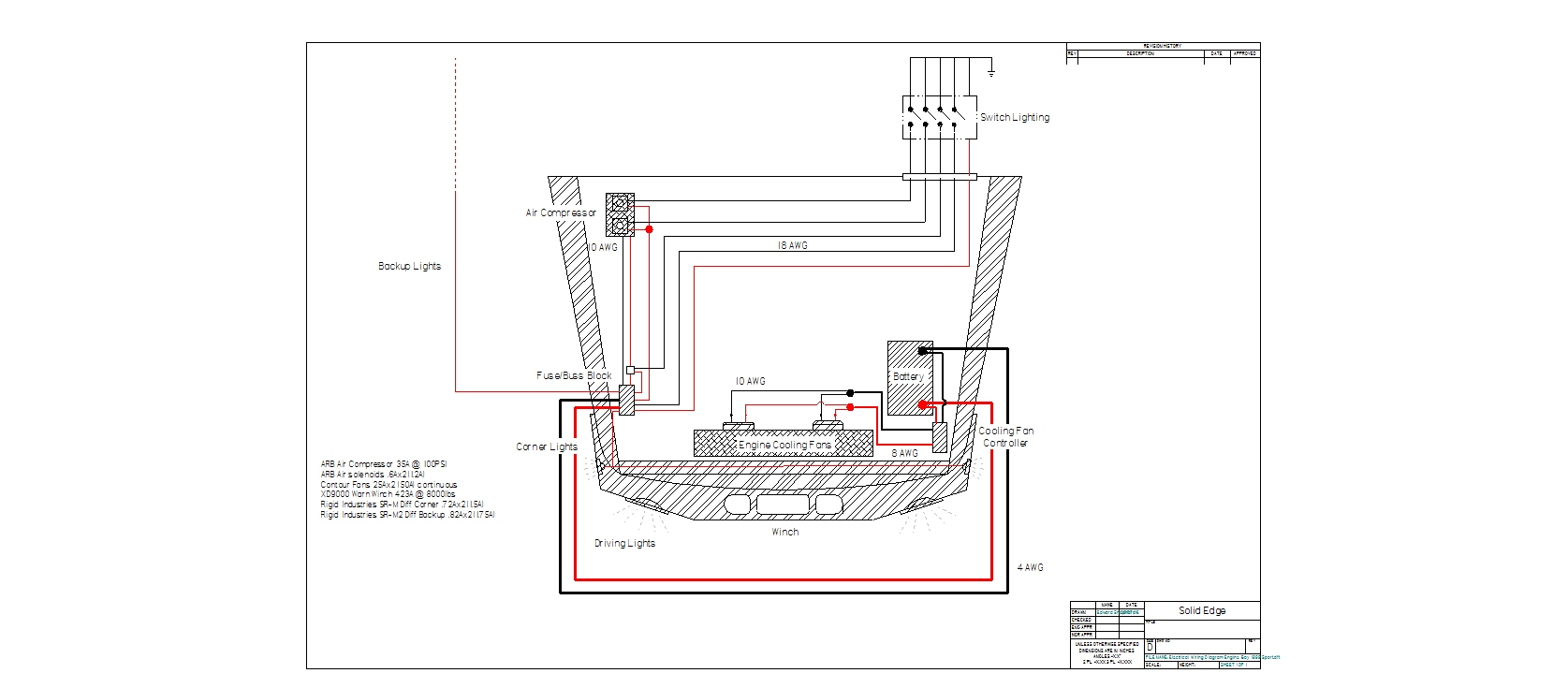 Arb Wiring Diagram Guide And Troubleshooting Of Air Locker Harness Compressor Switch 57 Chevy