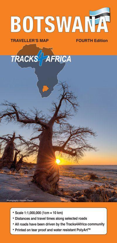 Traveller's Map Botswana 4th Edition