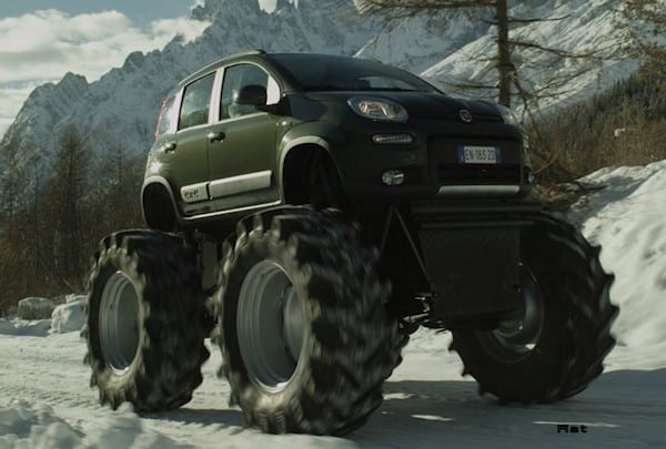"""Köstlich: Fiat Panda als """"Bigfoot"""" Monster-Truck mit 1,50 Meter großen Reifen"""