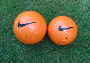 The size 3 is just as good as the size 5, making this an excellent trainer ball for kids and their coaches.