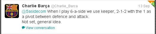 Charlie Barca Tweet