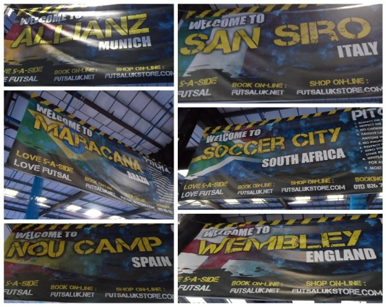 Leeds Futsal Arena Pitch Names