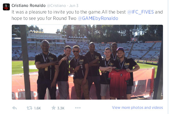 Game By Ronaldo Tweet