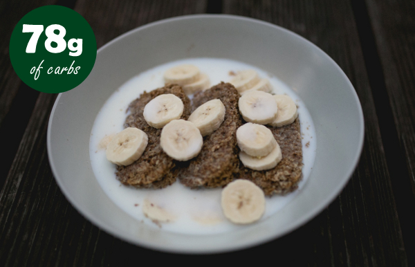 Weetabix with banana