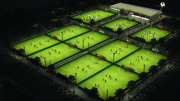 Goals Pitches Arial View Manchester 5-a-side