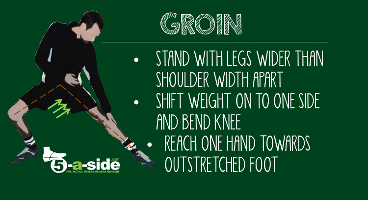Groin Static Stretch Warm-Down Football