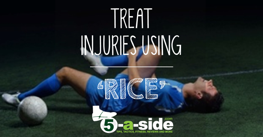 Treat Injuries Using RICE Article. Rest, ice, compression, elevation
