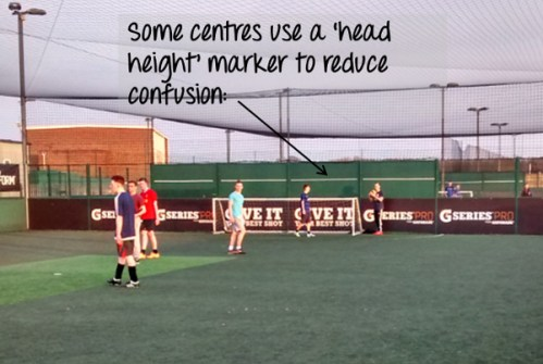 Head Height Marker 5-a-side Rule