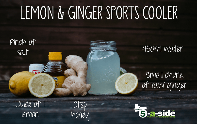 Lemon Ginger Sports Cooler Drink Isotonic