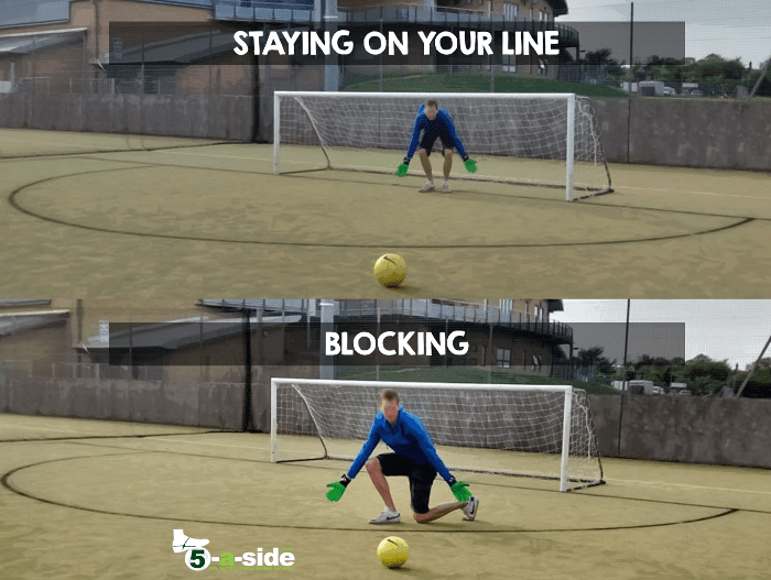 Goalkeeping on line vs blocking