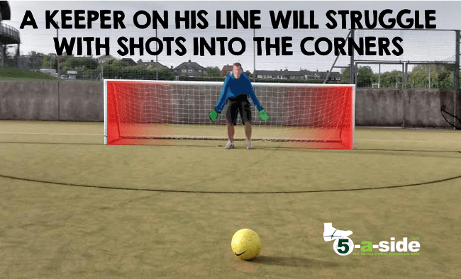 goalkeeper on line in 5-a-side