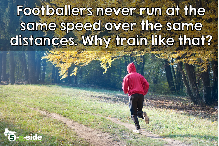 Fartlek Training Different Speeds Football