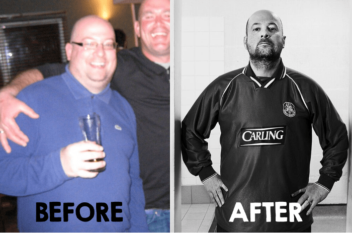 Man v Fat Football Before & After