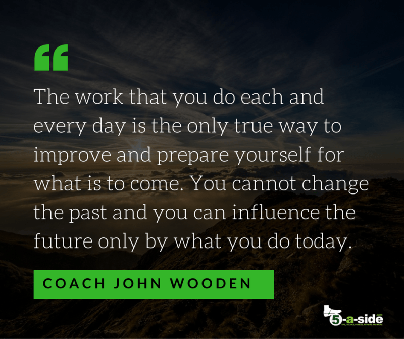 Coach John Wooden Improvement Quote