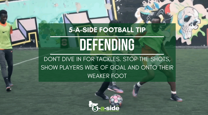 5 a side defending football